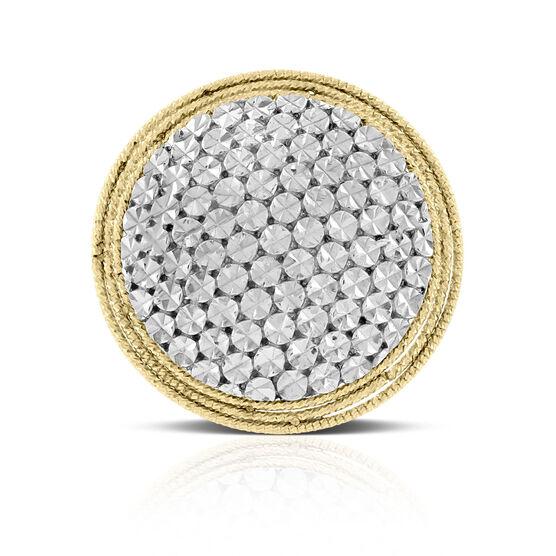 Toscano Diamond Cut Halo Ring 14K