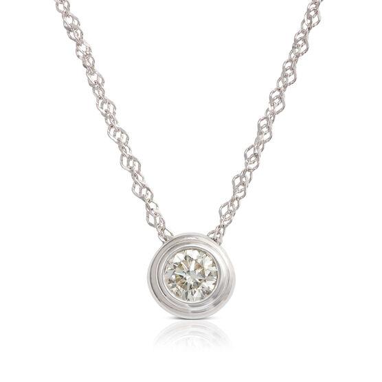 Bezel Set Diamond Necklace 14K, 1/5 ct.