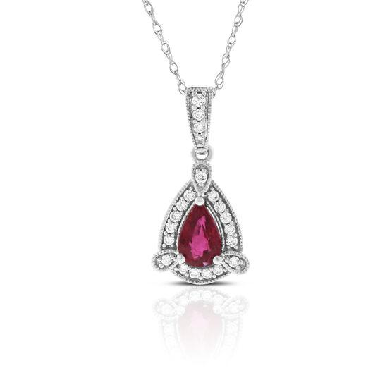 Ruby & Diamond Necklace 14K
