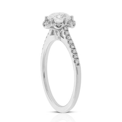 Signature Forevermark Floral Diamond Halo Ring 18K, 1 ct. Center