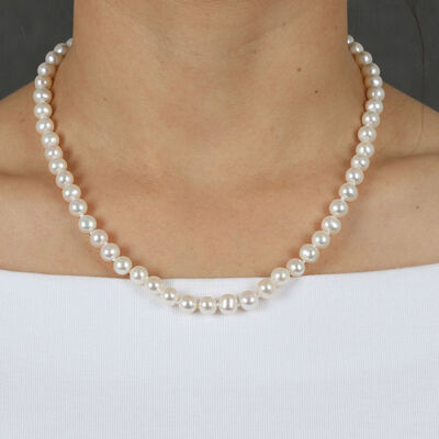 Cultured Freshwater Pearl Strand 14K, 18""