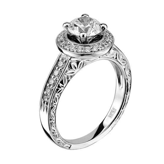 Scott Kay Diamond Semi-Mount Ring 14K