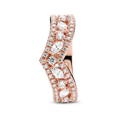 Pandora Rose™ Sparkling Marquise Double Wishbone CZ Ring