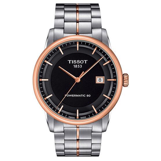 Tissot Luxury Powermatic 80 Rose Gold PVD Auto Watch, 41mm
