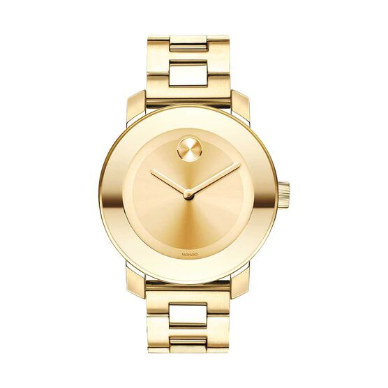 Movado Bold Midsize Yellow Ion Watch