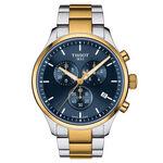 Tissot Chrono XL Classic Gold PVD Blue Dial Quartz Watch, 45mm