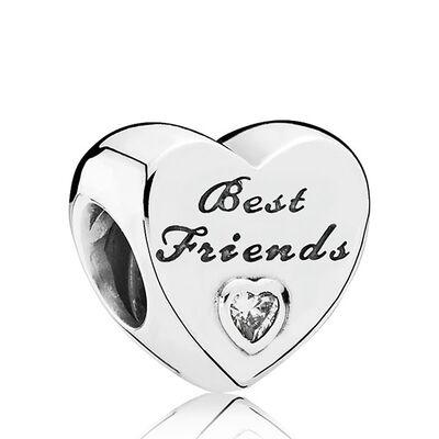 PANDORA Friendship Heart Charm
