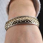 Toscano Braided Cuff Bracelet 14K