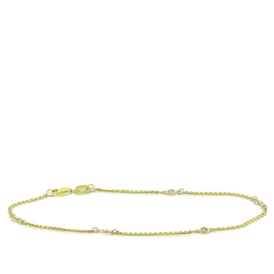 Diamond Station Bracelet 14K