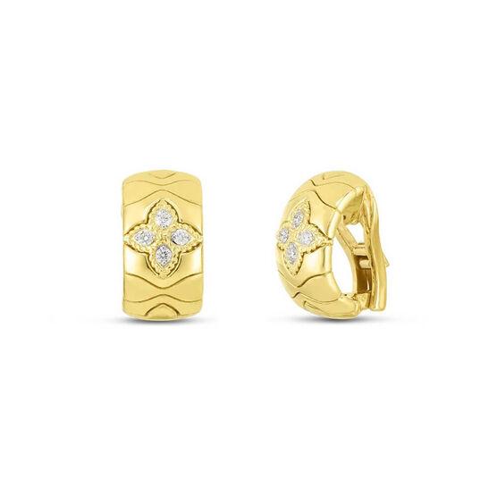 Roberto Coin Royal Princess Flower Diamond Earrings 18K