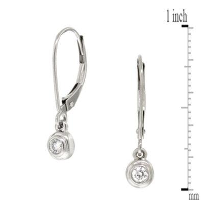 Bezel Set Diamond Earrings 14K