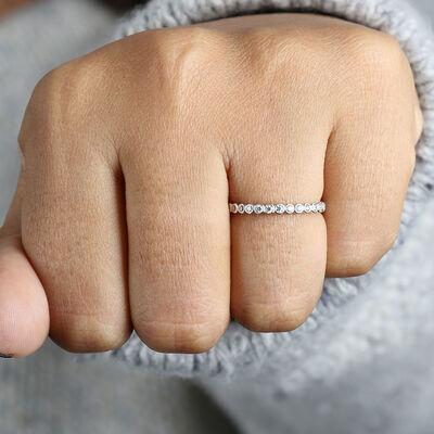 Bezel Set Diamond Band 14K