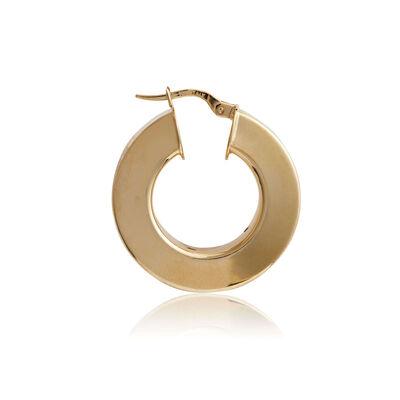 Toscano Wide Square Tube Hoop Earrings 14K