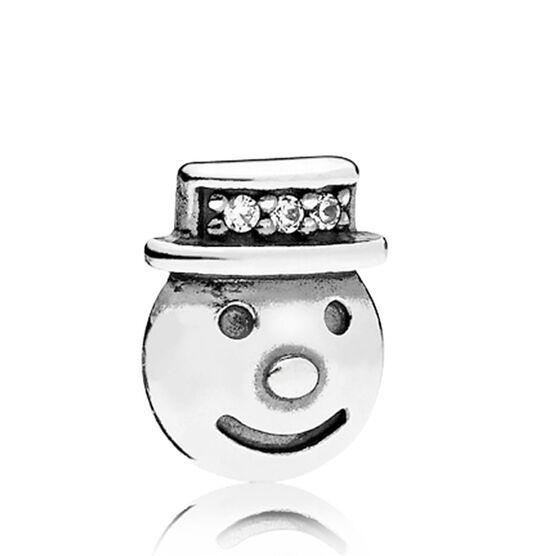 PANDORA Happy Snowman CZ Petite Locket Charm