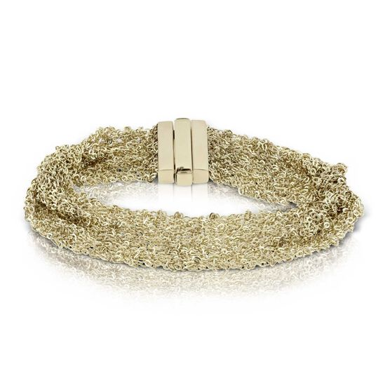 Toscano Woven 'Silk' Bracelet 14K