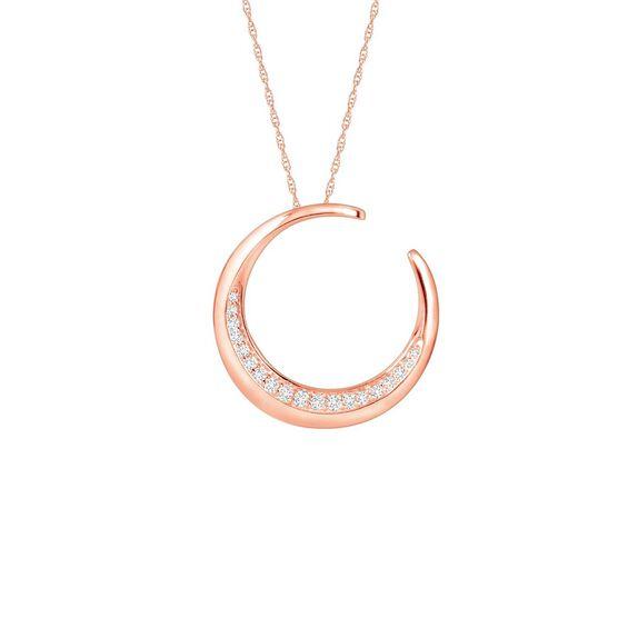 Rose Gold HOPECIRCLE Diamond Pendant 14K, 1/5 ctw.