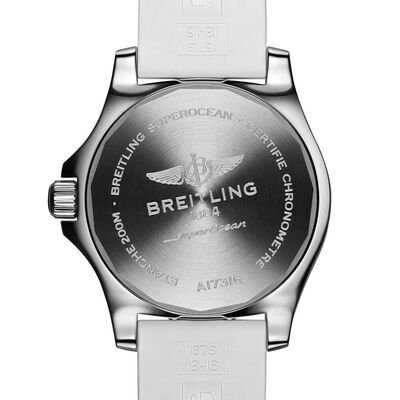 Breitling Superocean Automatic 36 White Rubber Watch, 36mm