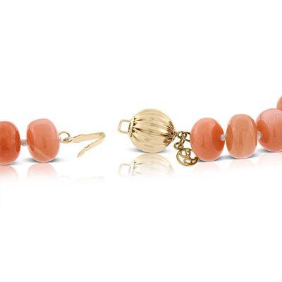 Lisa Bridge Orange Moonstone Necklace 14K