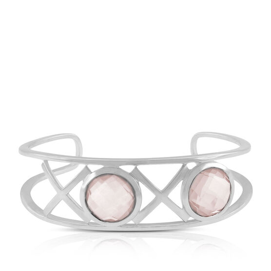 Lisa Bridge Rose Quartz XOXO Cuff Bangle