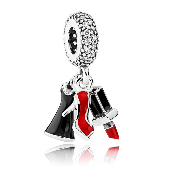 Pandora Glamour Trio CZ & Enamel Dangle Charm