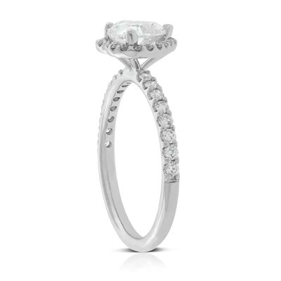 Diamond Heart Ring 14K, 1 ct. Center