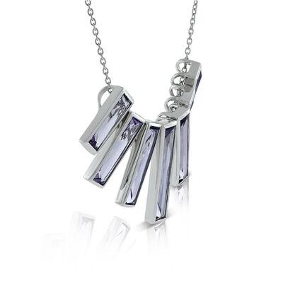 Lisa Bridge Amethyst Bar Necklace