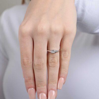 Diamond Cluster Ring 14K