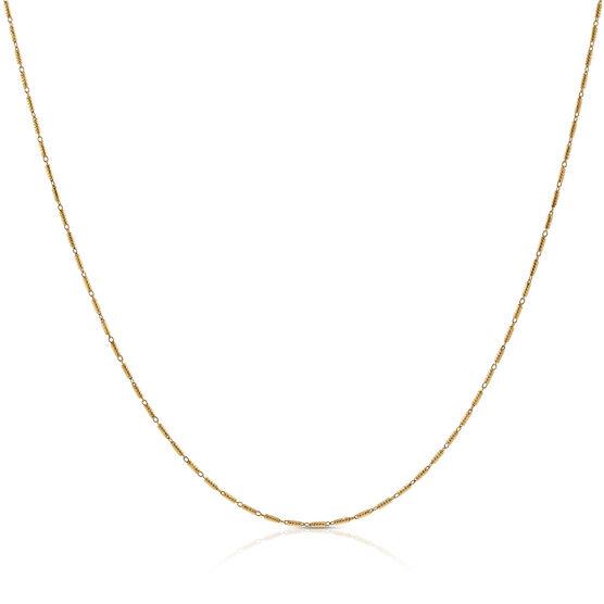 """Tubetto Diamond Cut Chain 14K, 20"""""""