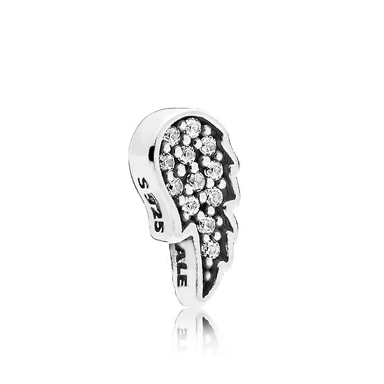 PANDORA Petite Locket CZ Angel Wing Charm