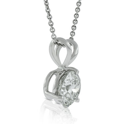 Diamond Solitaire Pendant 14K, 1 ct.