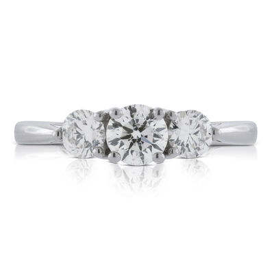 Ikuma Canadian Diamond Engagement 3-Stone Ring 14K