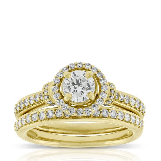 Diamond Bridal Set 14K, 1 & 1/4 ctw.