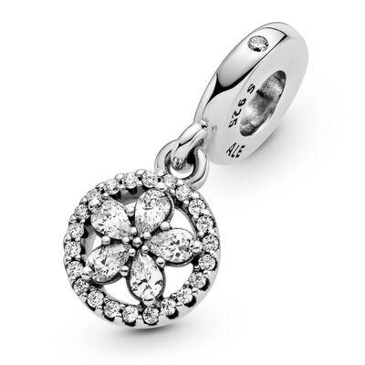 Pandora Sparkling Snowflake Circle CZ Dangle Charm