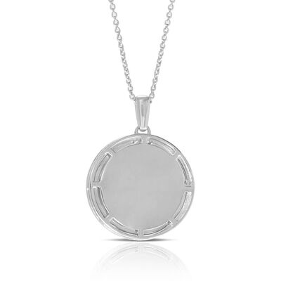 Ikuma Canadian Diamond Radiant Medallion Necklace in Sterling Silver