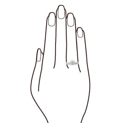 Emerald Cut Diamond Bridal Set 14K
