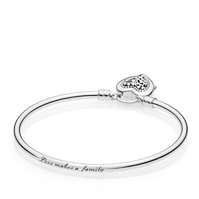 PANDORA Limited Edition Flourishing Heart Padlock Bangle
