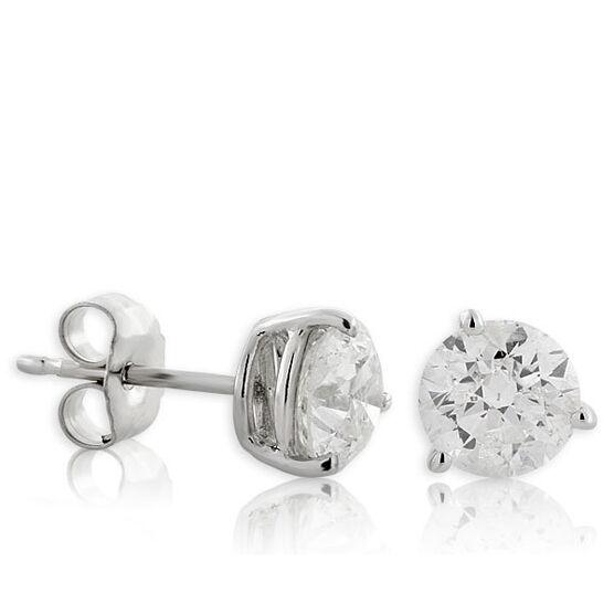 Diamond Solitaire Earrings 14K, 1 ctw.