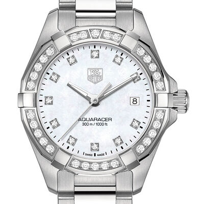 TAG Heuer Diamond Bezel Aquaracer Quartz Watch