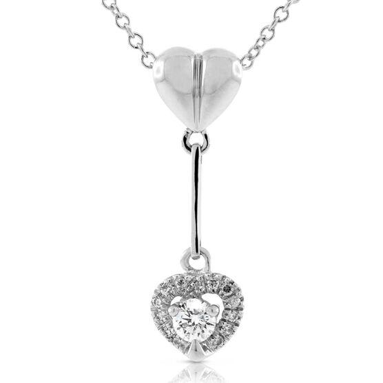 Diamond Heart Necklace 14K