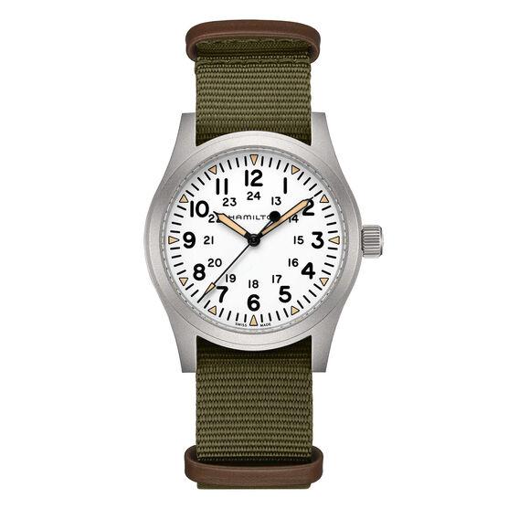 Hamilton Khaki Field White NATO Mechanical Watch, 42mm