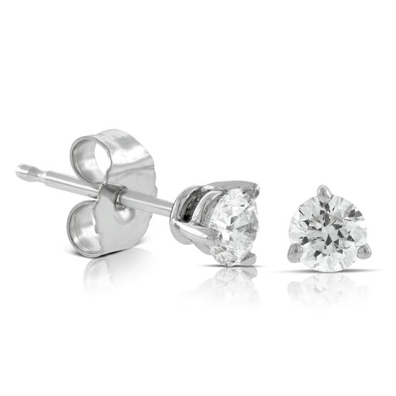 Diamond Solitaire Earrings 14K, 1/3 ctw.