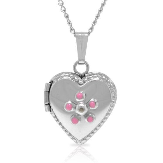 Baby Heart Locket in Sterling Silver