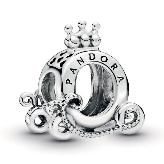Pandora Polished Pandora Crown O Carriage Charm