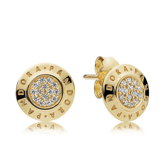 PANDORA Signature CZ Earrings, PANDORA Shine™