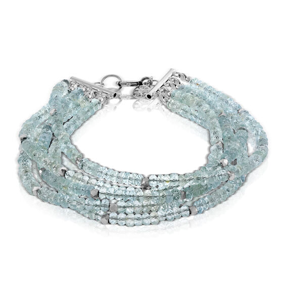 Lisa Bridge Multi-Strand Aquamarine Bracelet