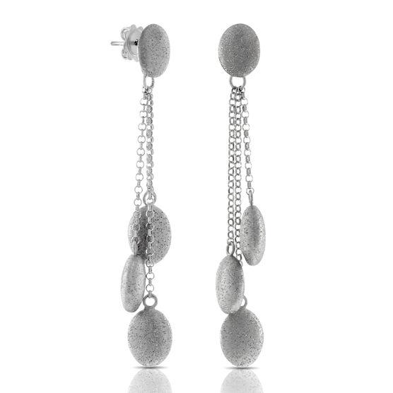 Pebble Drop Earrings in Sterling Silver