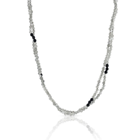 Lisa Bridge Labradorite & Black Onyx Beaded Necklace, 46""