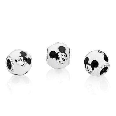PANDORA Disney, Expressive Mickey Enamel Charm