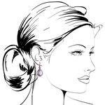 Rose Gold Amethyst Drop Earrings 14K