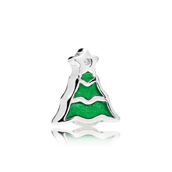 PANDORA Christmas Tree Enamel Petite Locket Charm